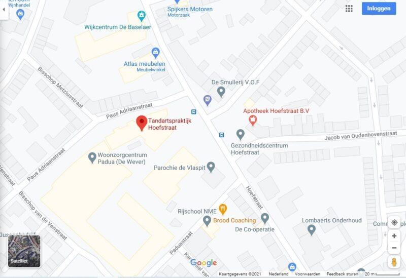 Locatie Tandartspraktijk Hoefstraat